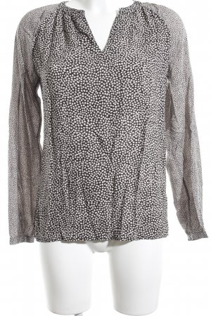 Marc O'Polo Langarm-Bluse schwarz-hellbeige Punktemuster extravaganter Stil