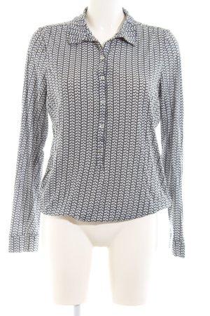 Marc O'Polo Langarm-Bluse schwarz-weiß Allover-Druck Casual-Look