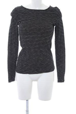 Marc O'Polo Langarm-Bluse schwarz-weiß Streifenmuster schlichter Stil