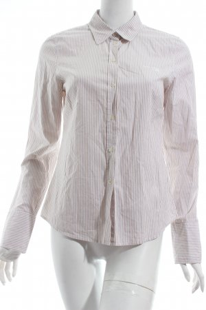 Marc O'Polo Langarm-Bluse weiß-beige Streifenmuster Business-Look