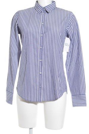 Marc O'Polo Langarm-Bluse weiß-blau Streifenmuster Casual-Look