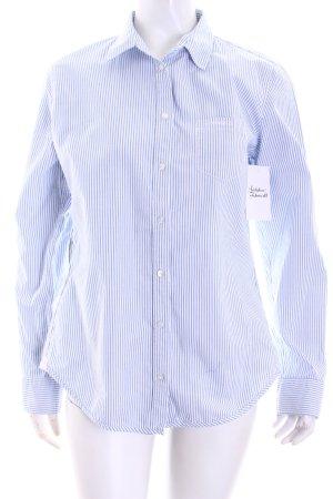 Marc O'Polo Langarm-Bluse weiß-blau Streifenmuster klassischer Stil