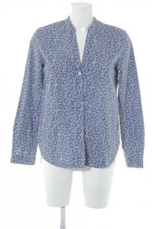 Marc O'Polo Long Sleeve Blouse white-dark blue abstract pattern casual look