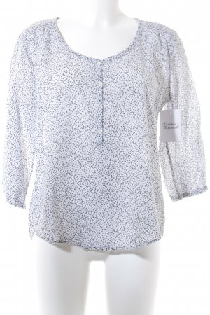 Marc O'Polo Langarm-Bluse weiß-grau florales Muster Casual-Look