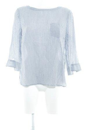 Marc O'Polo Langarm-Bluse weiß-grau Streifenmuster Casual-Look
