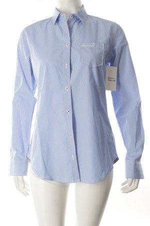 Marc O'Polo Langarm-Bluse weiß-hellblau Streifenmuster Business-Look