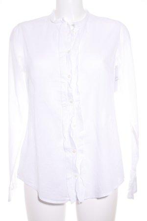 Marc O'Polo Langarm-Bluse weiß klassischer Stil
