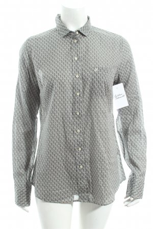 Marc O'Polo Langarm-Bluse weiß-schwarz abstraktes Muster Casual-Look