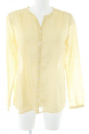 Marc O'Polo Langarm-Bluse wollweiß-dunkelgelb Punktemuster schlichter Stil