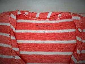 Marc O'Polo Langarm Shirt weiß-orange gestreift Gr. M