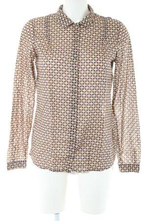 Marc O'Polo Langarmhemd creme-blassgelb abstraktes Muster Business-Look