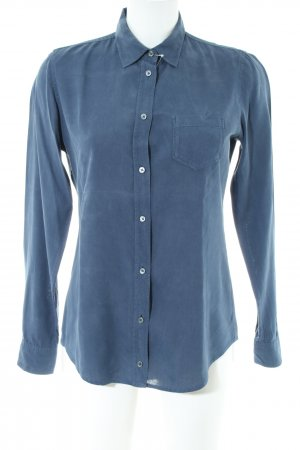 Marc O'Polo Shirt met lange mouwen blauw casual uitstraling
