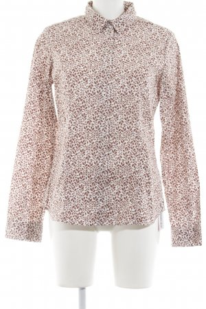 Marc O'Polo Langarmhemd creme-rostrot florales Muster Casual-Look