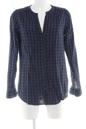 Marc O'Polo Langarmhemd schwarz-blau Karomuster Casual-Look