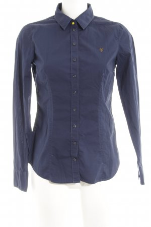 Marc O'Polo Langarmhemd dunkelblau Casual-Look