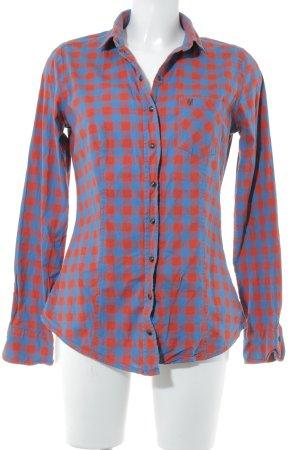 Marc O'Polo Langarmhemd dunkelblau-rot Karomuster Casual-Look