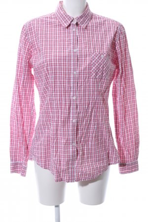 Marc O'Polo Langarmhemd pink-weiß Karomuster Casual-Look