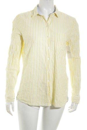 Marc O'Polo Langarmhemd gelb-weiß Streifenmuster Casual-Look