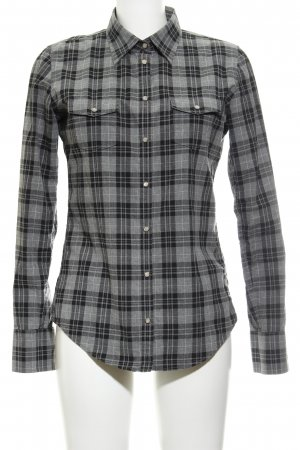 Marc O'Polo Langarmhemd grau-schwarz Karomuster Casual-Look