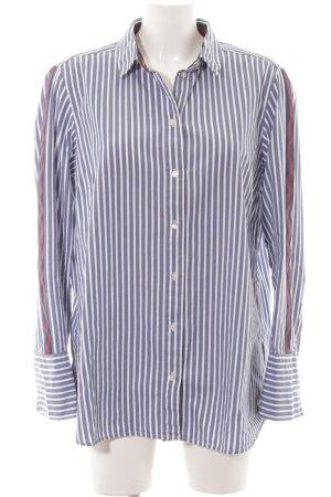 Marc O'Polo Langarmhemd graublau-weiß Streifenmuster Business-Look