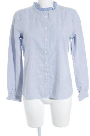 Marc O'Polo Langarmhemd hellblau Streifenmuster klassischer Stil