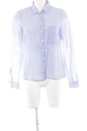 Marc O'Polo Langarmhemd himmelblau-weiß Streifenmuster Casual-Look