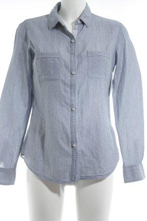 Marc O'Polo Chemise à manches longues bleuet-blanc motif de tache