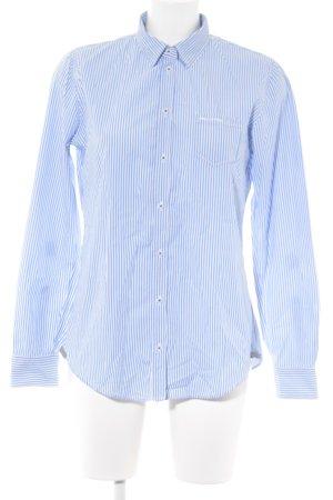 Marc O'Polo Langarmhemd kornblumenblau-weiß Streifenmuster Business-Look