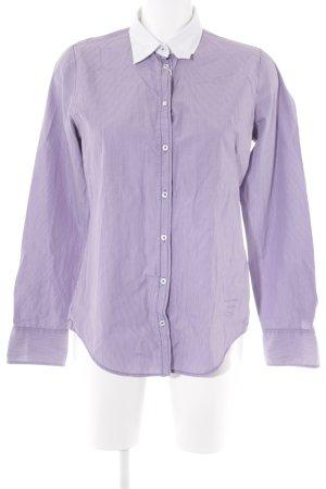 Marc O'Polo Langarmhemd lila-weiß Streifenmuster Business-Look