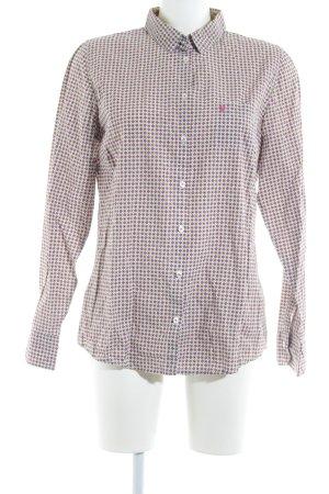 Marc O'Polo Langarmhemd pink-wiesengrün Allover-Druck Retro-Look