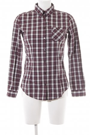 Marc O'Polo Langarmhemd purpur-weiß Karomuster Business-Look