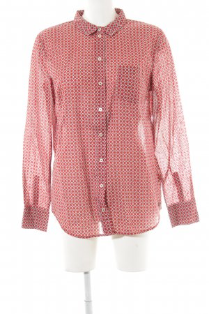 Marc O'Polo Long Sleeve Shirt red-white abstract pattern extravagant style