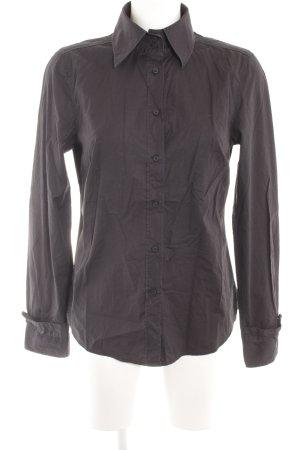 Marc O'Polo Langarmhemd schwarz schlichter Stil