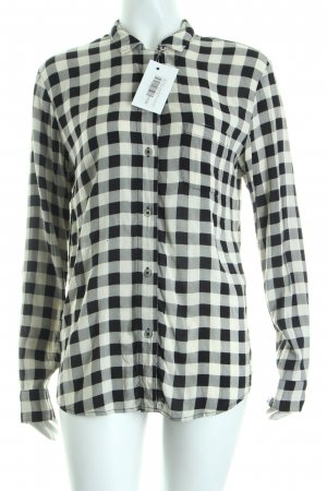 Marc O'Polo Langarmhemd schwarz-weiß Karomuster Casual-Look