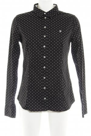 Marc O'Polo Langarmhemd schwarz-wollweiß Punktemuster Elegant