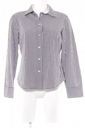 Marc O'Polo Langarmhemd schwarzbraun-weiß Karomuster Casual-Look