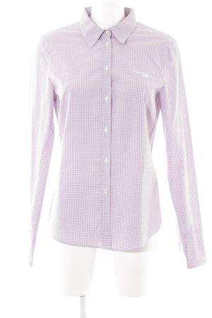 Marc O'Polo Shirt met lange mouwen violet geruite print casual uitstraling