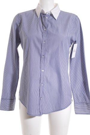 Marc O'Polo Langarmhemd weiß-blau Streifenmuster Casual-Look