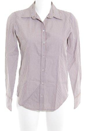 Marc O'Polo Langarmhemd weiß-braun Streifenmuster Casual-Look