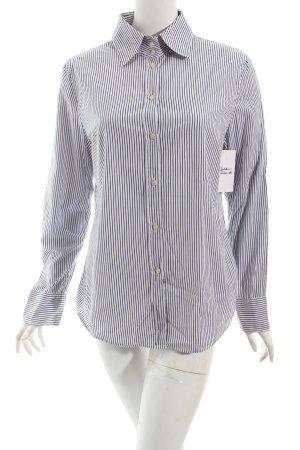 Marc O'Polo Langarmhemd weiß-dunkelblau Nadelstreifen Casual-Look