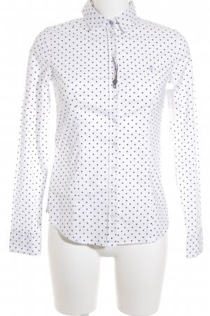 Marc O'Polo Long Sleeve Shirt white-dark blue spot pattern casual look