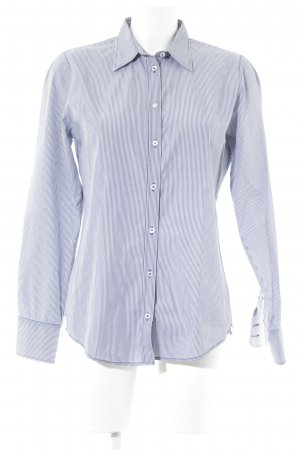 Marc O'Polo Langarmhemd weiß-graublau Streifenmuster Business-Look