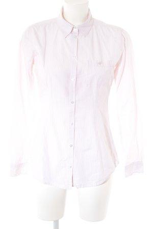 Marc O'Polo Langarmhemd weiß-hellrosa Streifenmuster Casual-Look