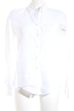 Marc O'Polo Langarmhemd weiß klassischer Stil