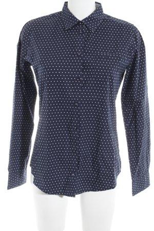 Marc O'Polo Langarmhemd wollweiß-blau Punktemuster Elegant
