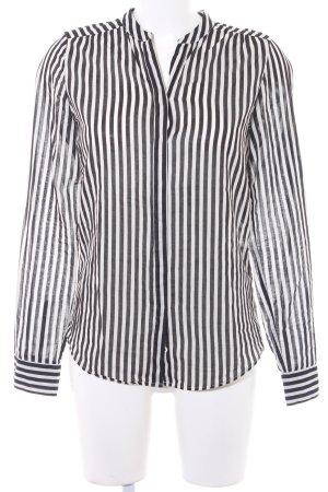 Marc O'Polo Langarmhemd wollweiß-schwarz Streifenmuster Casual-Look
