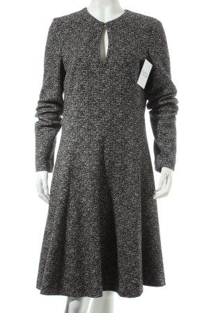 Marc O'Polo Langarmkleid schwarz-wollweiß schlichter Stil