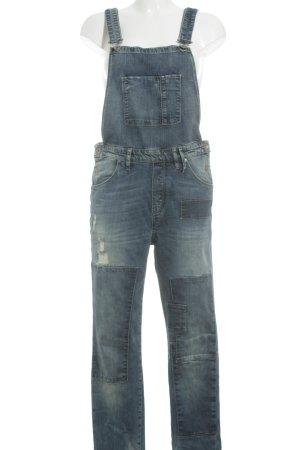 Marc O'Polo Latzhose stahlblau Street-Fashion-Look