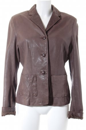 Marc O'Polo Leather Blazer light brown casual look