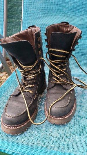 Marc O'Polo Aanrijg laarzen donkerblauw